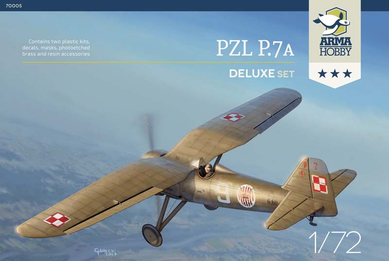Co w pudełku? Model PZL P.7a z Arma Hobby