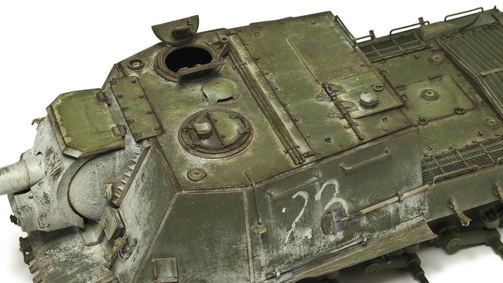 Zimowy ISU-122 w kolorze 4B0, Tamiya 1:35