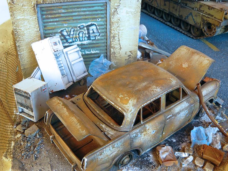 Dust and Rust, weathering wraku samochodu