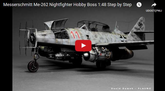 Messerschmitt Me-262 Nightfighter Hobby Boss 1:48 – Video