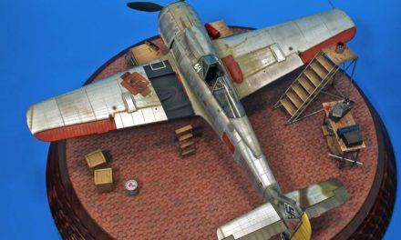 """""""Goła 190"""", odcienie aluminium na modelu Hasegawa 1/48"""