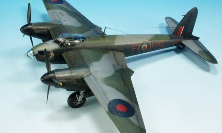 Mosquito B Mk.IV, weathering kredkami akwarelowymi krok po kroku